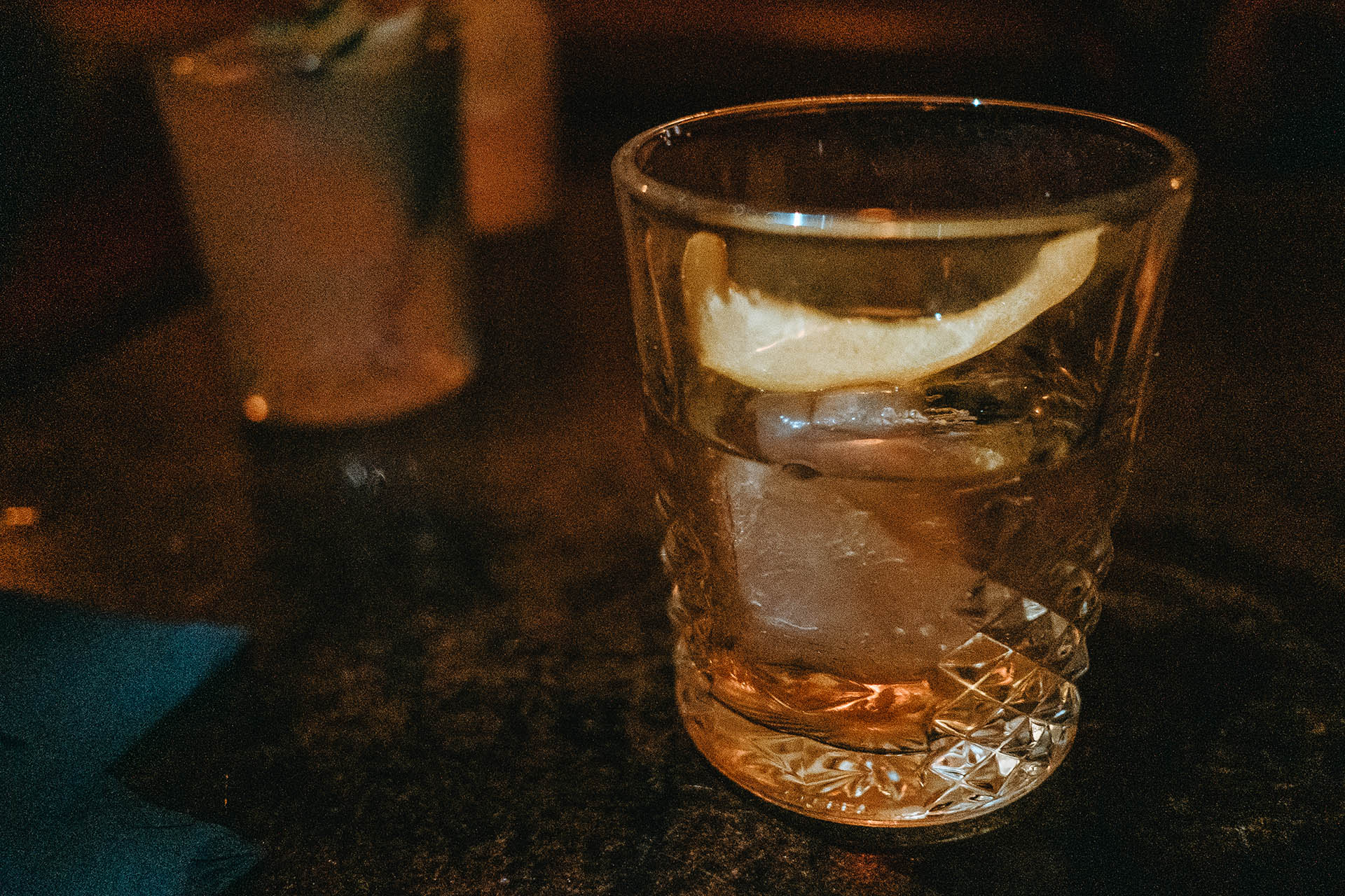 The mezcal old fashioned was disappointingly sweet