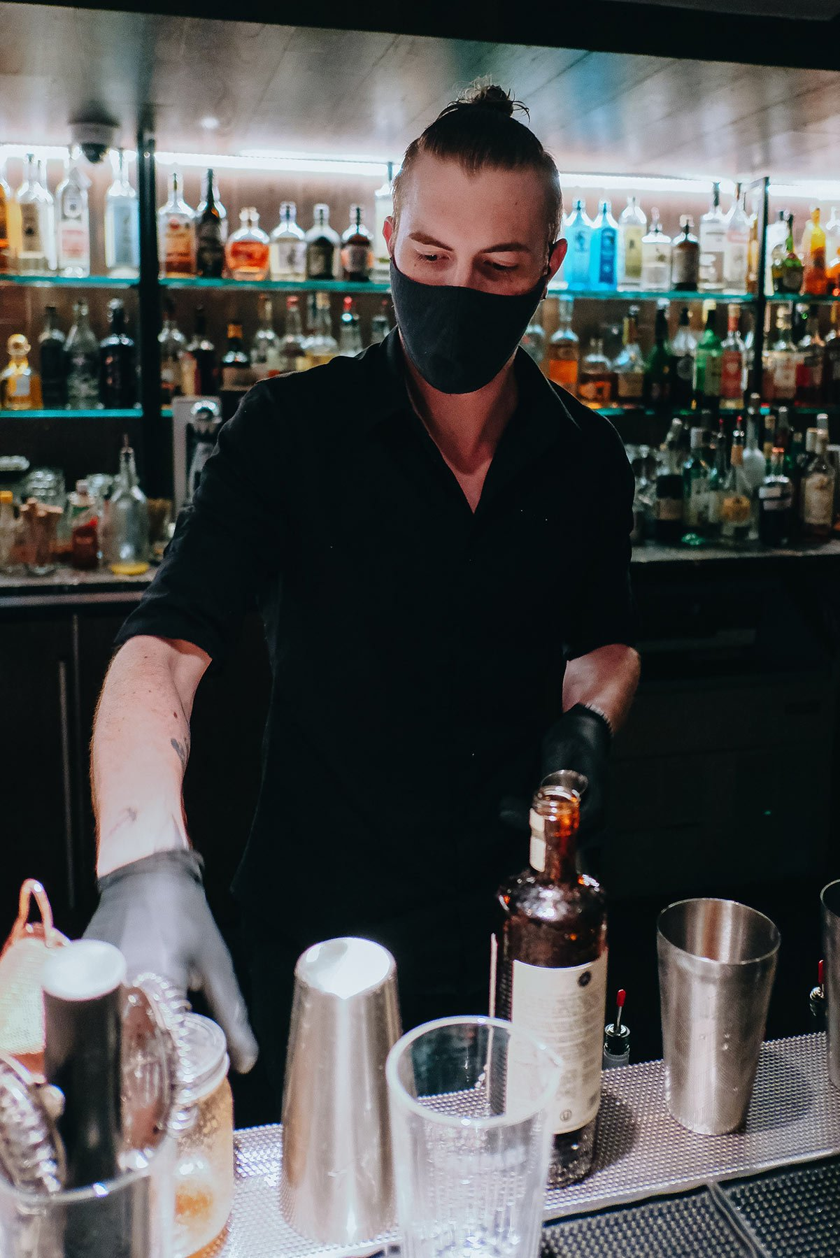 Malice, manager and mixologist at Bourbon & Banter