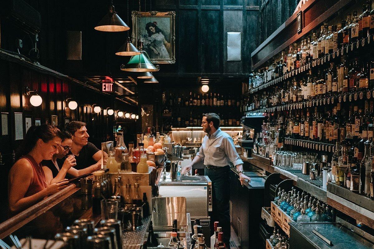 The Bar Area at Dutch Kills NYC Speakeasy