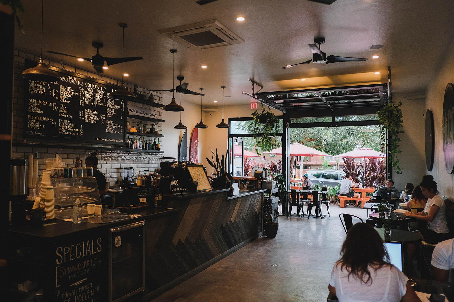 Interior of HiCO Hawaiian Coffee