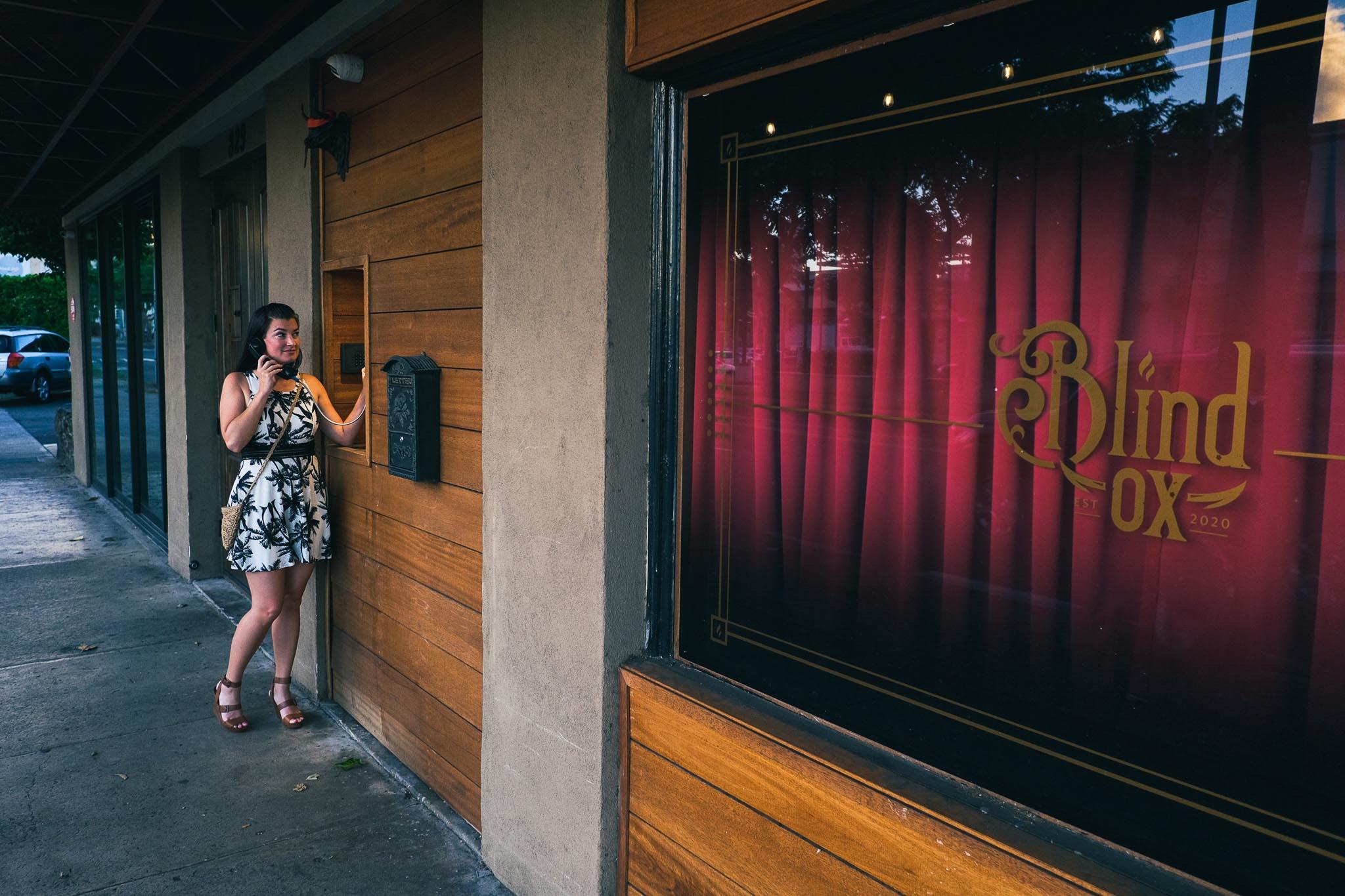 The Entrance of Blind Ox Honolulu Speakeasy