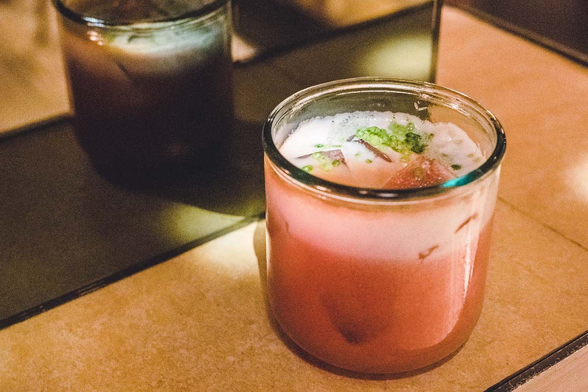 One of the eclectic drinks from Pablo Discobar