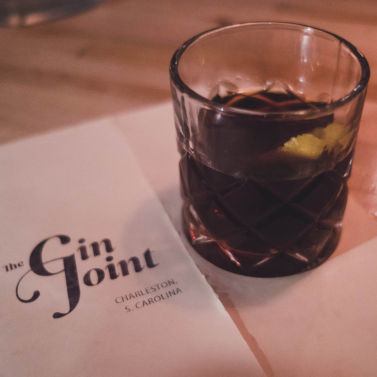 One of the Drinks at The Gin Joint