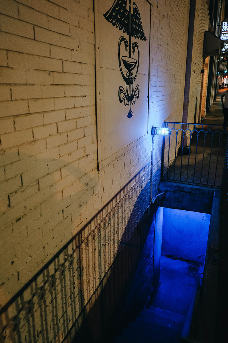 The Exit of Thompson's Bookstore Fort Worth Speakeasy