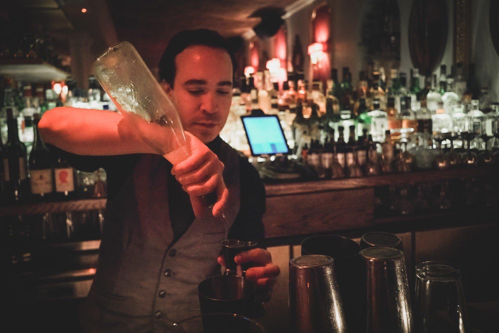 Ian, The head bartender of Le Boudoir