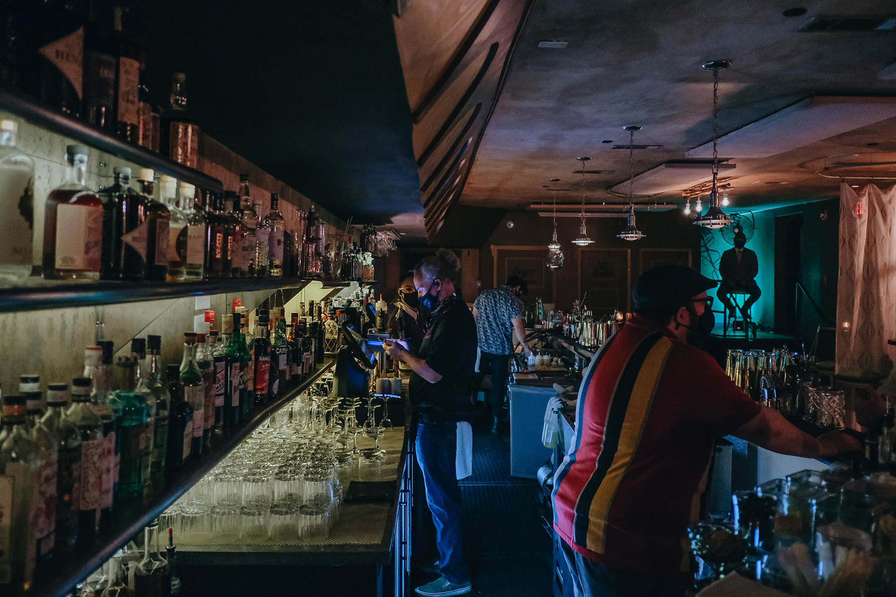 Downstairs secret bar at Thompson's Bookstore Fort Worth Speakeasy